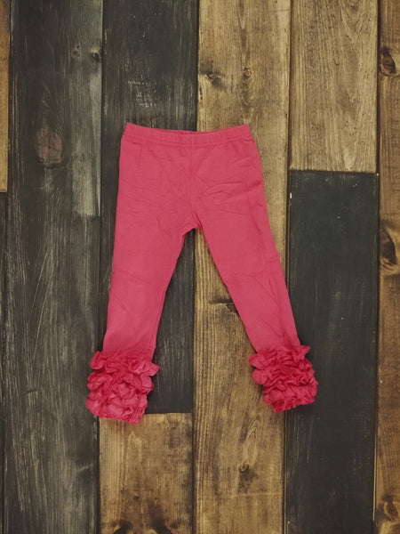 Hot Pink Icing Ruffle Leggings