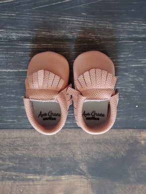 Rose Pink Genuine Leather Moccasin