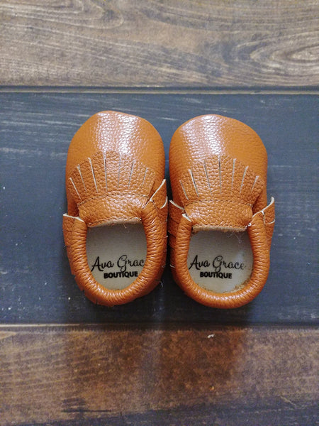 Ginger Genuine Leather Moccasin