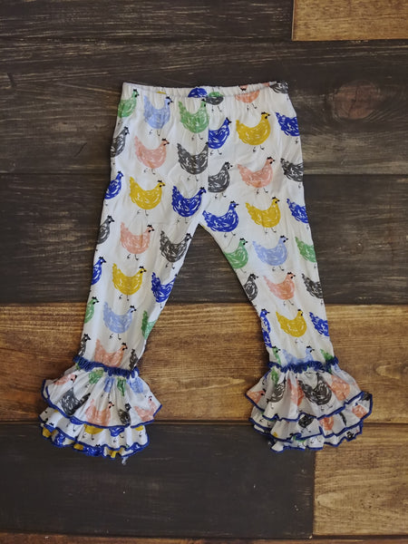Chicken Knit Triple Ruffle Legging