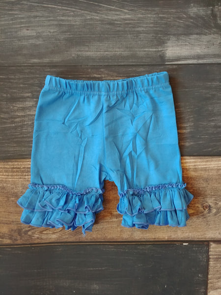 Cornflower Ruffle Shorts