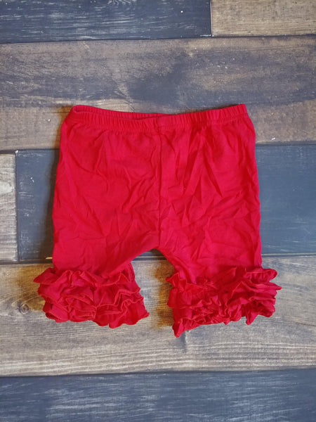 Red Triple Icing Ruffle Shorts