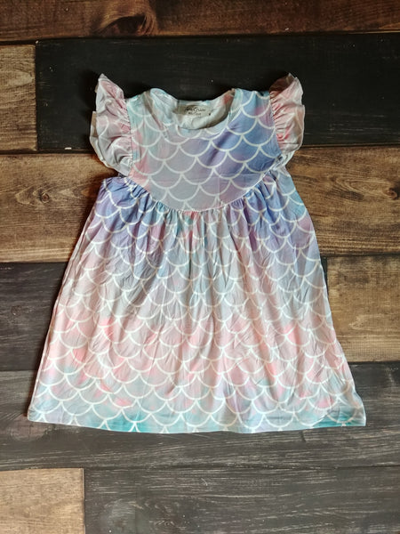 Mermaid Scales Milk Silk Pearl Dress