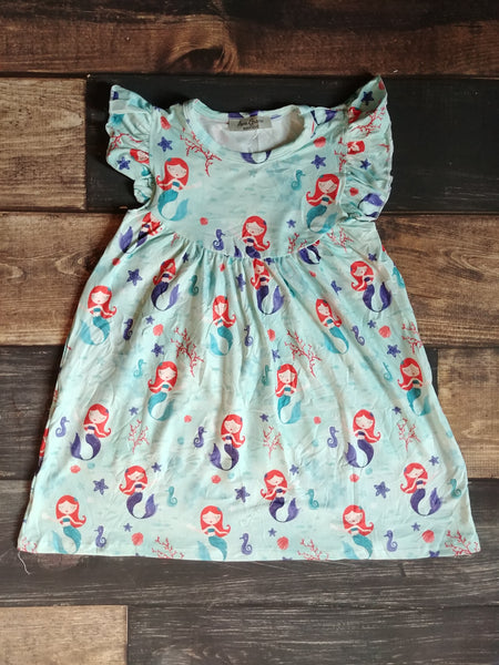 Mermaid Milk Silk Pearl Dress