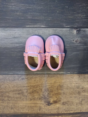 Bubble Gum Pink Genuine Leather Moccasin