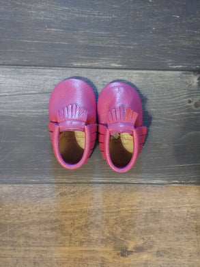 Magenta Genuine Leather Moccasin