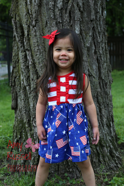 Flags with Red/White Stripes Tunic Dress