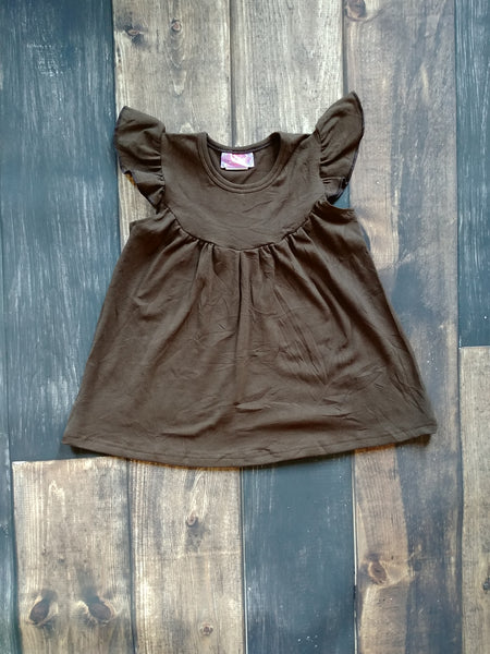 Brown Pearl Knit Dress