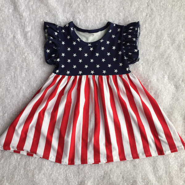 Patriotic Milk Silk Pearl Dress  - preorder only