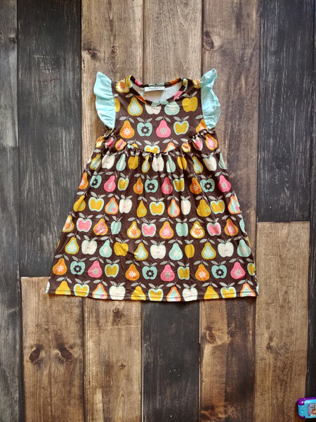 Fall Apples Pearl Milk Silk Dress