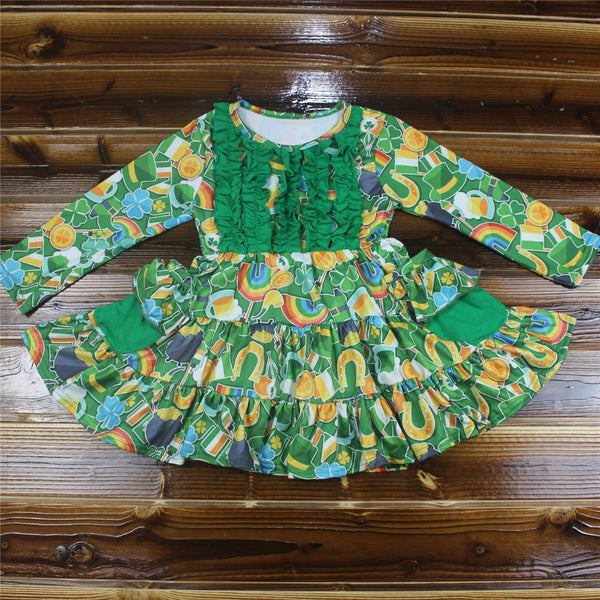 St. Patrick's Day Lucky Charm Milk Silk Dress