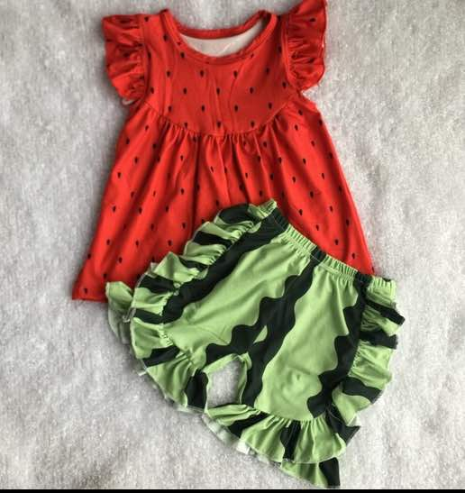 Watermelon Dress and Short Set - Preorder only