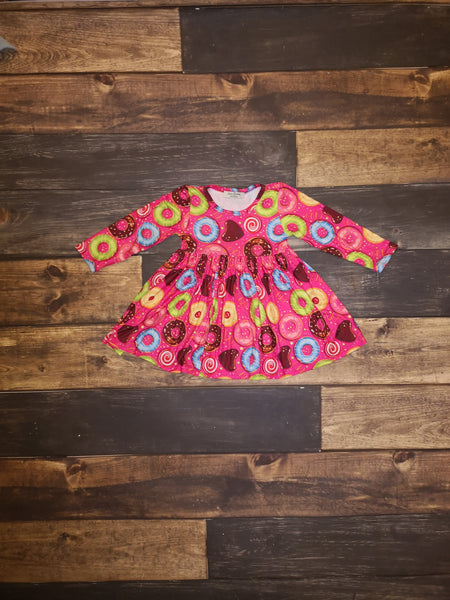 Yummy Donuts Long Sleeve Dress