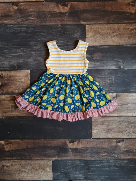 Lemon 🍋 Tank Ruffle Dress