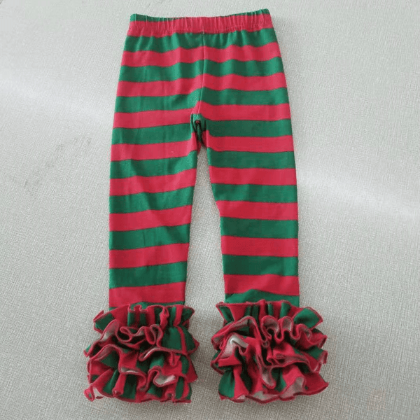 Red/Green Stripes Icing Legging