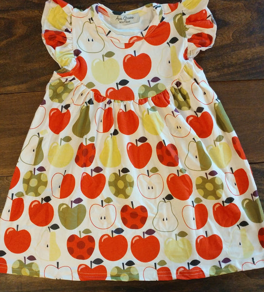 Apples Pearl Milk Silk Dress