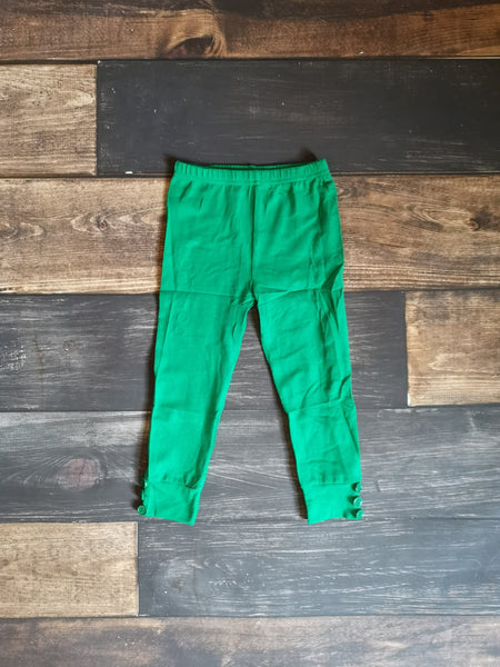 Green Side Buttons Legging