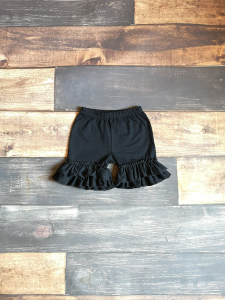 Black Ruffle Shorts