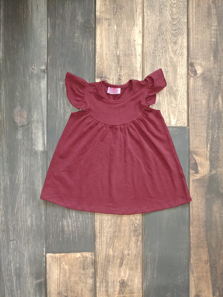 Maroon Pearl Knit Dress