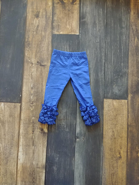 Royal Blue Icing Ruffle Leggings