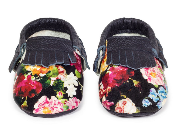Floral Genuine Leather Moccasin