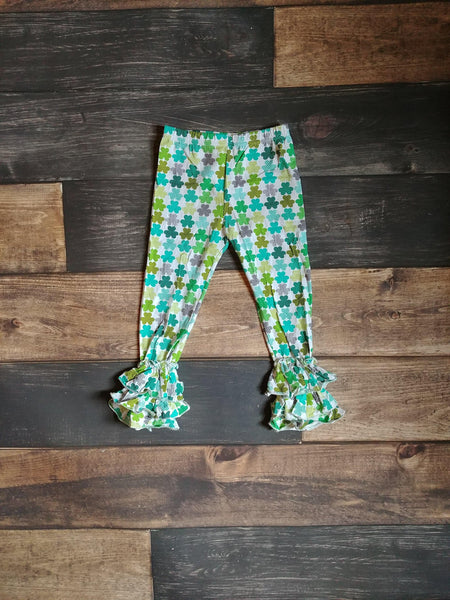 Shamrock Truffle Triple Ruffle Leggings