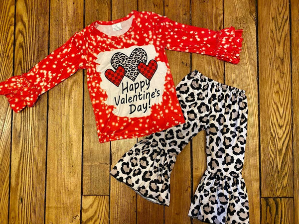 Valentine's Hearts Top and Belle Bottom Set