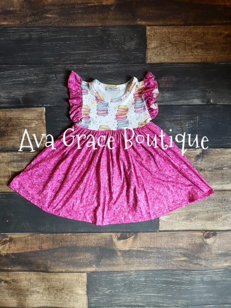 Sparkle Macaron Milk Silk Pearl Dress