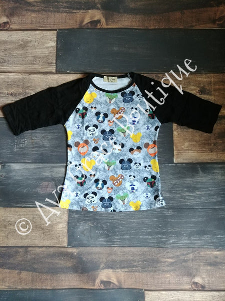 Star Wars Mickey Mouse Raglan Tee