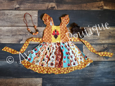 Thanksgiving Turkey Twirly Dress
