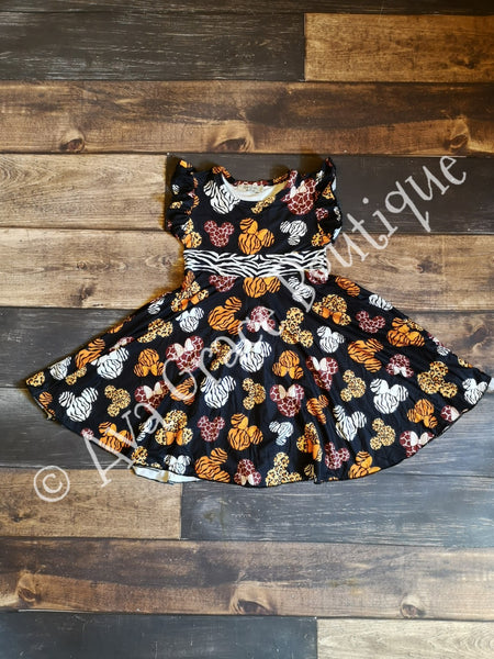 Mickey Inspired Safari Twirly Dress - Preorder 6-8 weeks