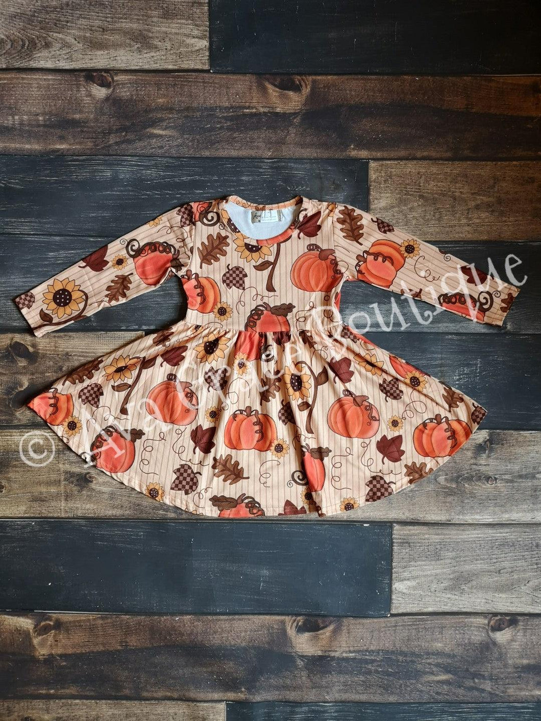Pumpkin Milk Silk Dress Twirly Style