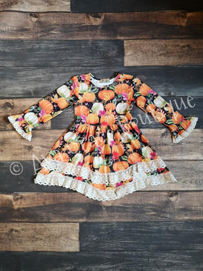 Pumpkin Lace Dress