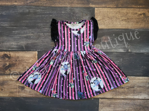 Vampirina Inspired Milk Silk Dress