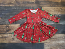 Christmas Grinch Inspired Dress Twirly Style