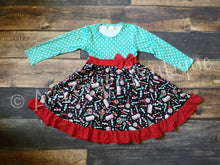 Christmas Treats Ruffle Dress