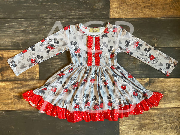 Minnie Mickey Hearts Dress