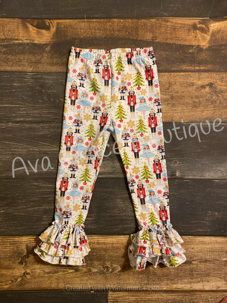 Nutcracker Triple Ruffle Leggings
