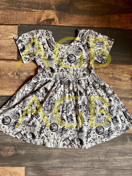 Oogie Boogie Nightmare Twirly Dress