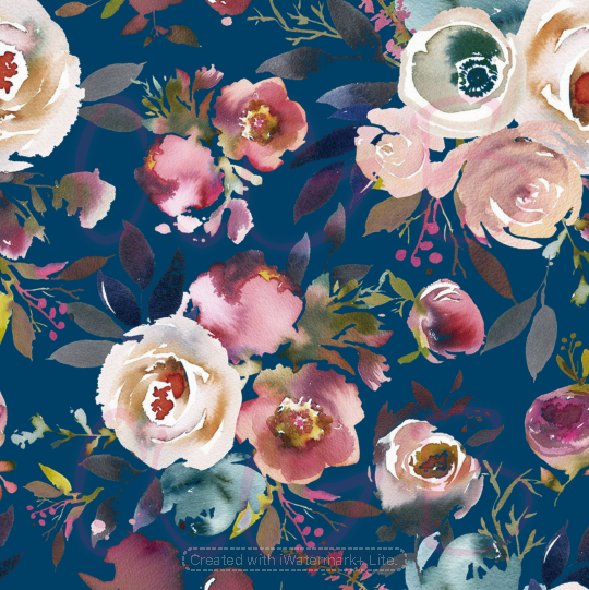 Navy Roses Print Collection - Preorder