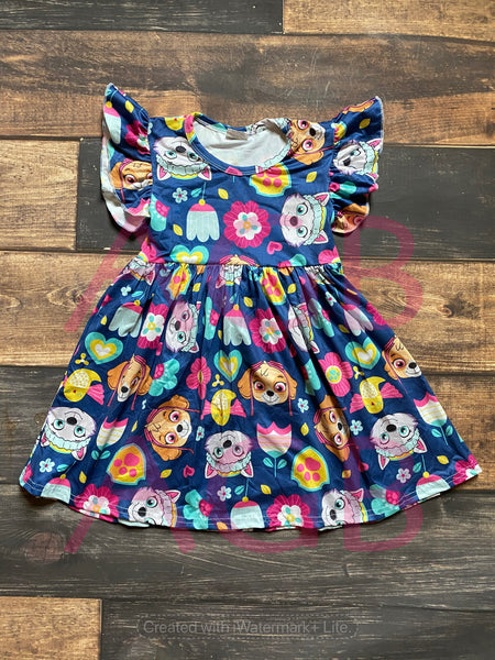 Navy Paw Patrol Dress