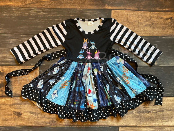 Everything Baby Shark Twirly Dress