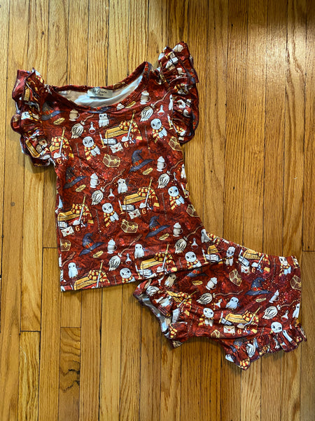 Harry Potter Top and Bummie Short Set
