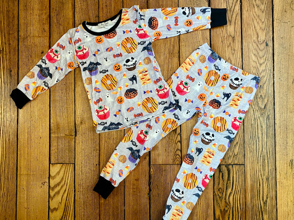 Halloween Spooky 2 Pieces Pajama Set