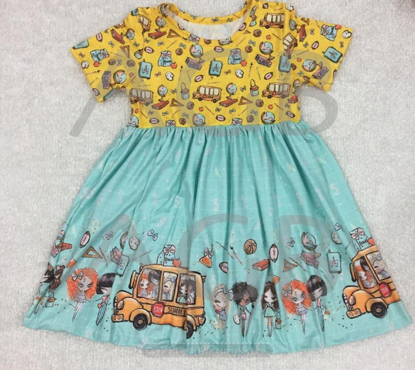 Back to School Yellow Dress - Preorder 4-6 weeks