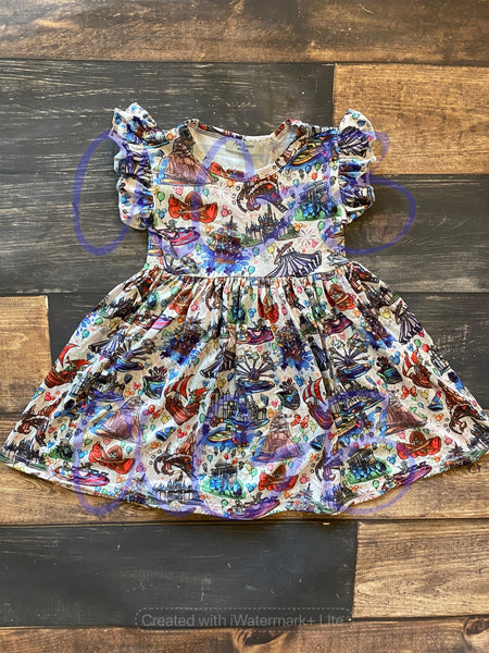 Magical Adventure Flutter Dress