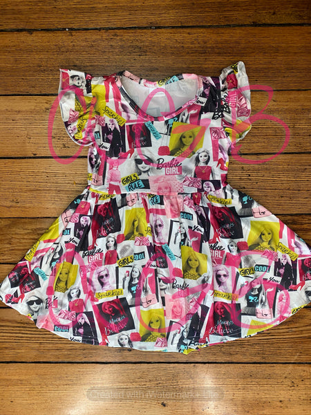 Barbie Milk Silk Dress Twirly Style