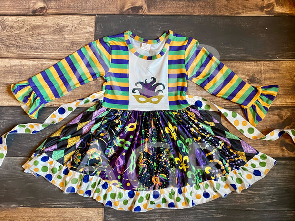Mardi Gras Twirly Dress