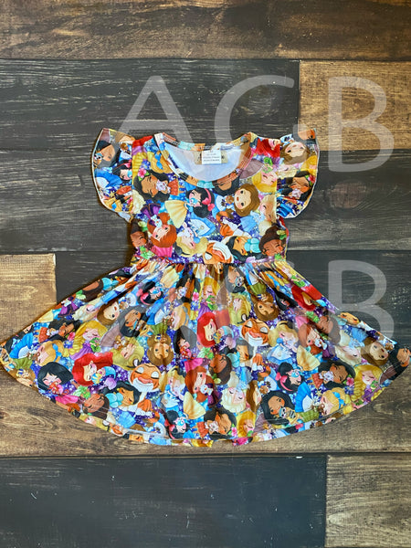 Magical Princess Characters Twirly Style Dress