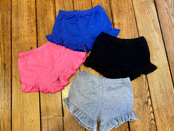 Ruffle Shorties - Solid Colors 3m - 4T Preorder Only